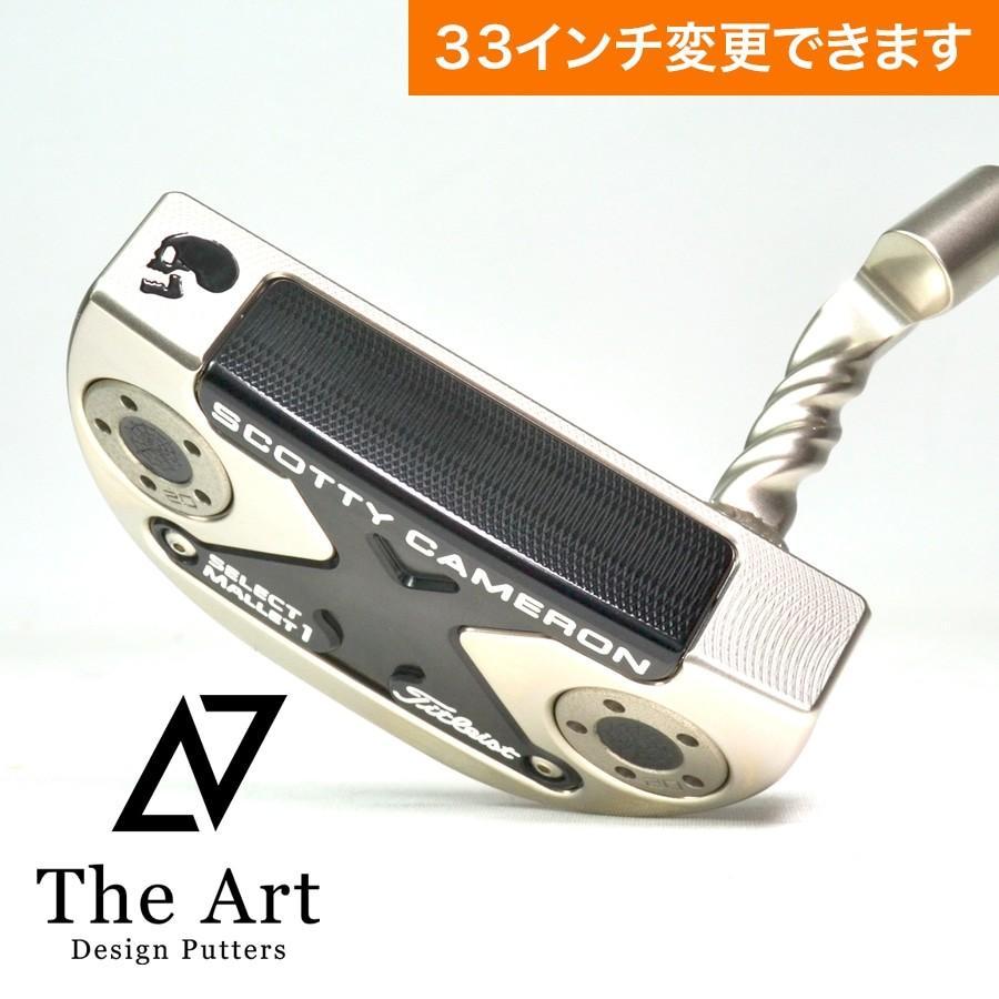 スコッティキャメロン カスタムパター ニューポートM1 [NEXT] Black Side Face Skull Twist Art Neck Platinum Custom ツイストネック