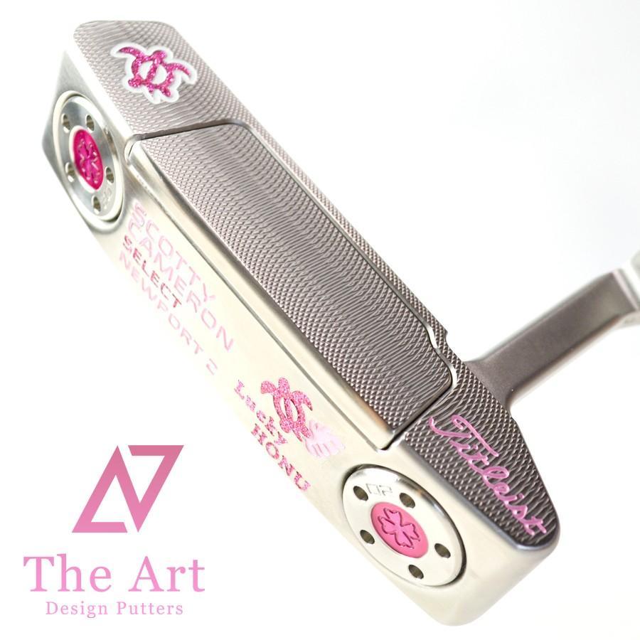 スコッティキャメロン カスタムパター ニューポート2 (Lucky HONU) Tiara(Deco) Custom with クローバー 20g ウェイト & シャフトリング