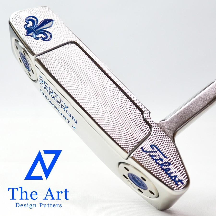スコッティキャメロン カスタムパター ニューポート2 (The Art Royal) shine シルバー mist Custom with Crown ウェイト & シャフトリング