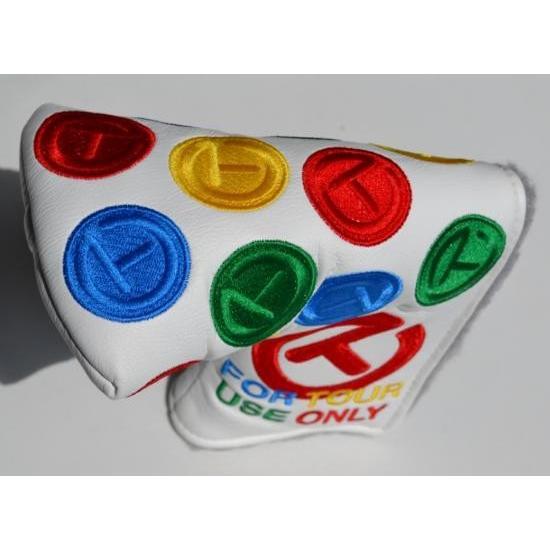 スコッティキャメロン ダンシング サークルT Multi Color Headcover 白い For GOLO