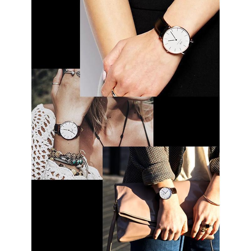 Daniel Wellington ダニエルウェリントン 腕時計 ペアウォッチ 40mm×36mm 本革レザー Classic クラシック 人気 ブランド メンズ レディース 2本セット dw_11|cameron|05