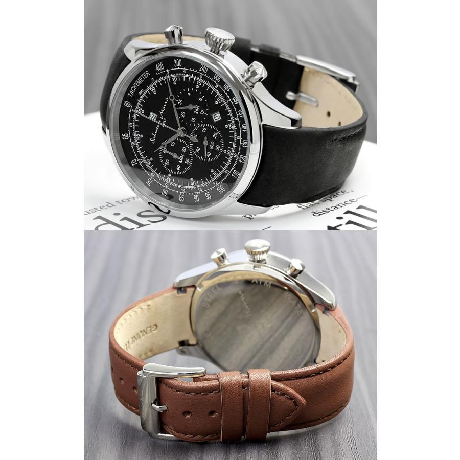サルバトーレマーラ クロノグラフ メンズ腕時計 限定モデル 革ベルト クロノグラフ腕時計 流行 cameron 04