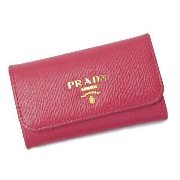 【人気急上昇】 プラダ PRADA キーケース 1PG222 VITELLO MOVE PEONIA ピンク レディース 三つ折り, ジュエリー工房 クレメンティア 97f5a3ef