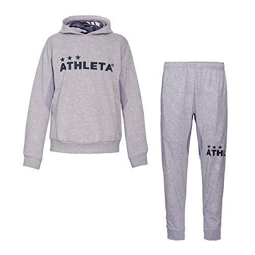 ATHLETA(アスレタ)ライトスウェットパーカー パンツ 上下セット メンズ サッカー フットサルウェア 03317/03318 60GRY Sサイズ