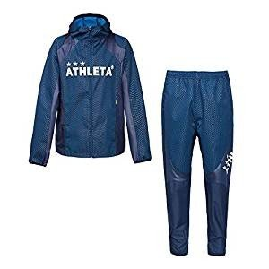 ATHLETA(アスレタ) メンズ サッカーウェア ボンディング ウインドブレーカー 上下セット 04119/04120 90NVY Lサイズ