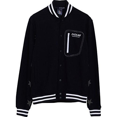 SVOLMEスボルメ 鬼裏毛スタジャン Mサイズ 173-46814 [010] 黒 (ブラック)