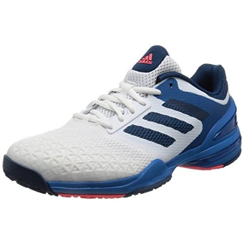 [アディダス] adidas テニスシューズ adizero club オムニクレー KDJ69 AQ2408 ランニングホワイト/テックスティールF16/フラッシュレッド S15 29.0