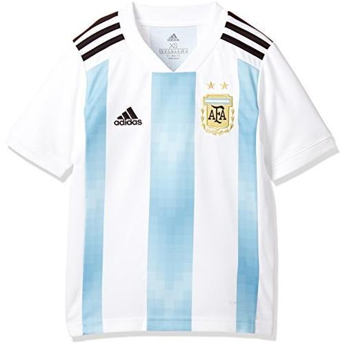 (アディダス)adidas サッカー アルゼンチン代表 ホームレプリカユニフォーム半袖 DTQ81 BQ9288 ホワイト/クリアブルー/ブラック 160cm