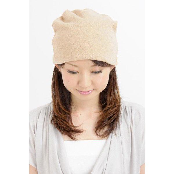 室内用帽子 オーガニックコットン無染色エリゼシャロット SIGN Flabel 日本製 NOC認定商品|canalsigncom|04
