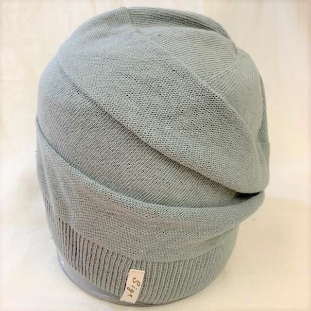 室内用帽子 草木染ニットワッチ 3色展開 オーガニックコットン混 SIGN FLABEL|canalsigncom|03