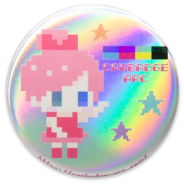 白ホログラムタイプ缶バッジ(プレーン) canbadge-arc