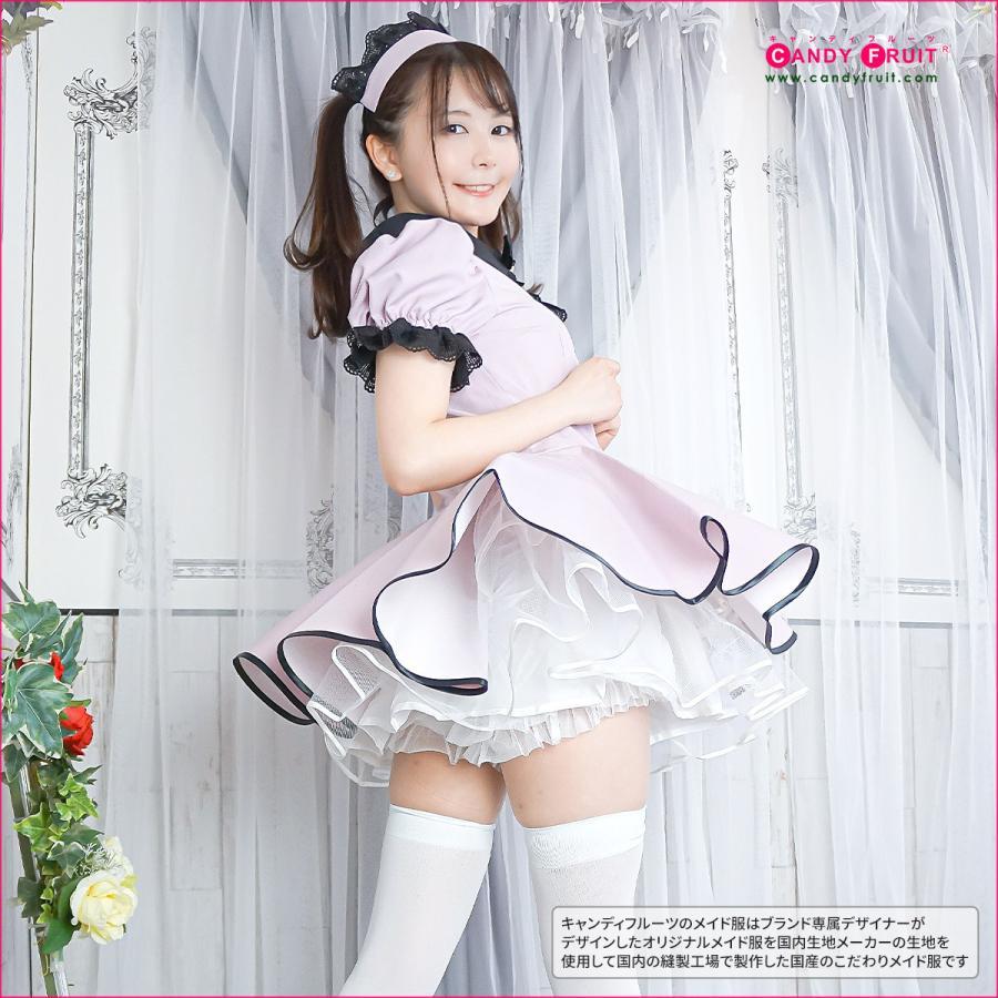 キャンディフルーツ ミルクメイド服(ダスティピンク) レディース 半袖 グレー M,XLサイズ|candyfruit-maid|07