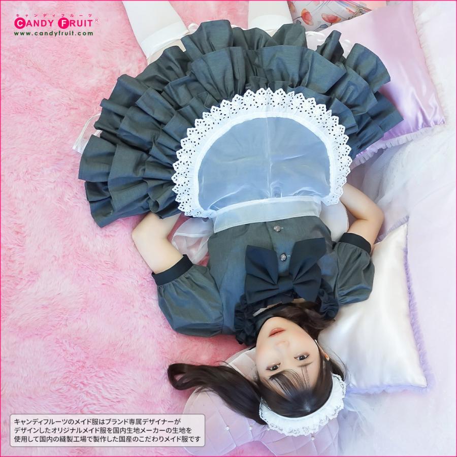 キャンディフルーツ ジュリアメイド服 レディース 半袖 グレー Mサイズ|candyfruit-maid|02