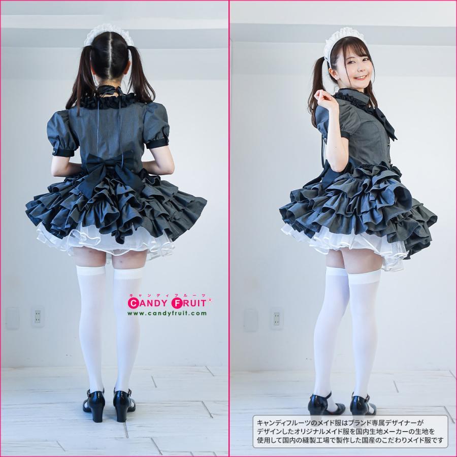 キャンディフルーツ ジュリアメイド服 レディース 半袖 グレー Mサイズ|candyfruit-maid|06