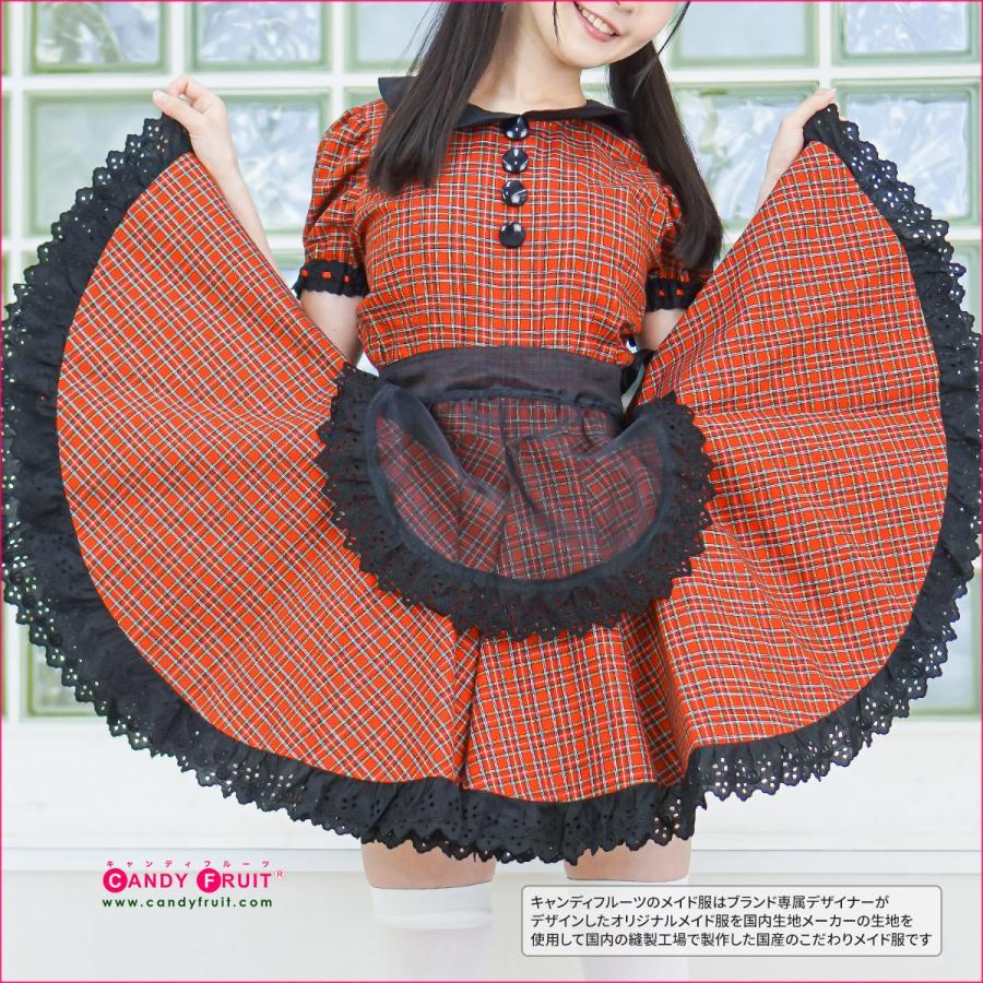 メイド服に♪透けちゃってる♪オーガンジーミニエプロン(ブラック)キャンディフルーツオリジナル|candyfruit-maid|02