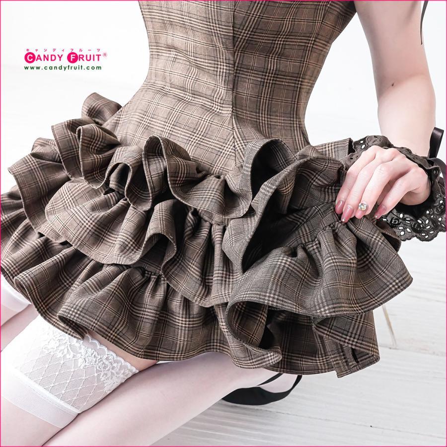 JILL×キャンディフルーツコラボ♪★グレースメイド服(アールグレイ)レディース 半袖 ブラウン 茶 Mサイズ|candyfruit-maid|09
