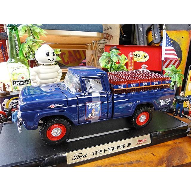 【全国送料無料】1959年フォードF-250ピックアップのダイキャストモデルカー 1/18スケール サミュエル・アダムス・リミテッド アメリカ雑貨 アメリカン雑貨
