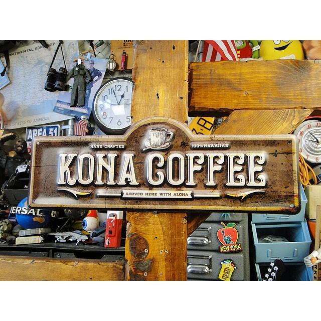 コナコーヒーのハワイアン・エンボスティンサイン ■ アメリカン雑貨 アメリカ雑貨 ブリキ看板|candytower