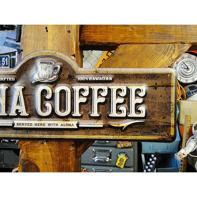 コナコーヒーのハワイアン・エンボスティンサイン ■ アメリカン雑貨 アメリカ雑貨 ブリキ看板|candytower|03