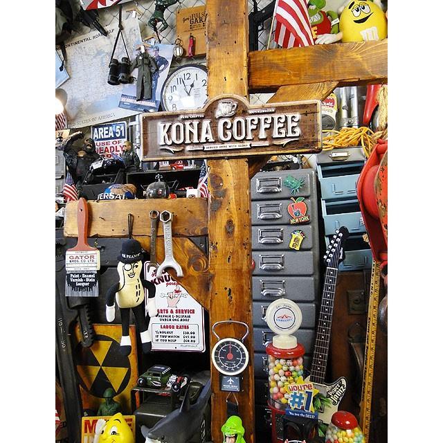 コナコーヒーのハワイアン・エンボスティンサイン ■ アメリカン雑貨 アメリカ雑貨 ブリキ看板|candytower|04