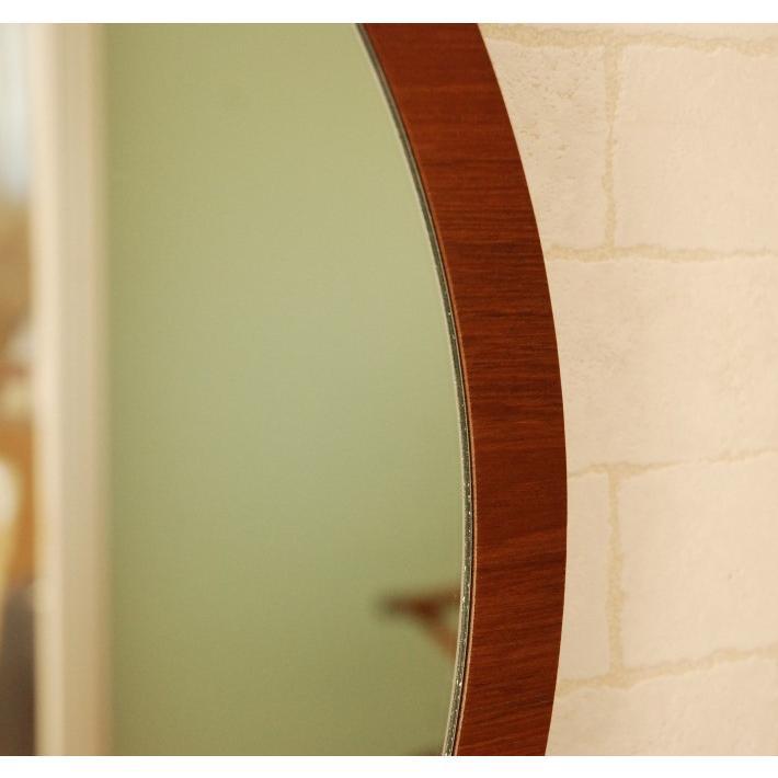 鏡 ウォールミラー 壁掛け 丸型 丸 ラウンド 円 CRM-0001TK 52cm ブラウン おしゃれ アンティーク  国産 洗面所 洗面台 軽い 北欧 チーク フラット  シンプル|canffy|06