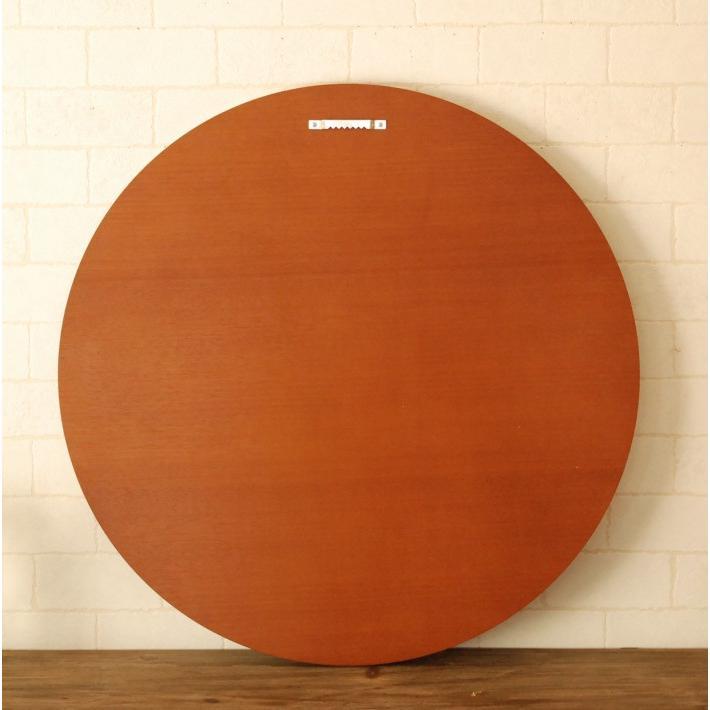 鏡 ウォールミラー 壁掛け 丸型 丸 ラウンド 円 CRM-0001TK 52cm ブラウン おしゃれ アンティーク  国産 洗面所 洗面台 軽い 北欧 チーク フラット  シンプル|canffy|07