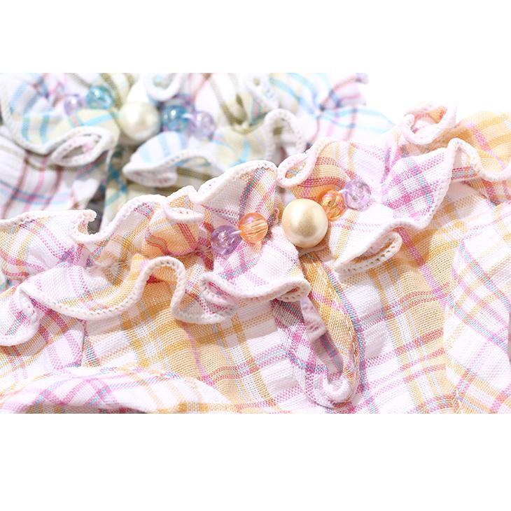 犬 服 犬服  春夏 チェック フリル ワンピース  犬の服 新作 きゃんナナ ドッグウェア ブランド|cannanaonline|13