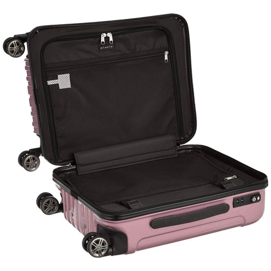 aac168c74d ワイズリー] 超軽量双輪スーツケース 機内持込最大サイズ 338-2200 ...