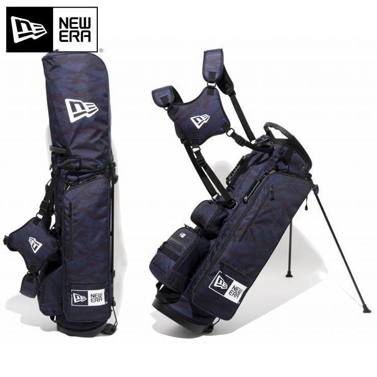 ニューエラ ゴルフ キャディーバッグ NEW ERA スタンド タイガーストライプカモ ネイビー/ブラック メンズ