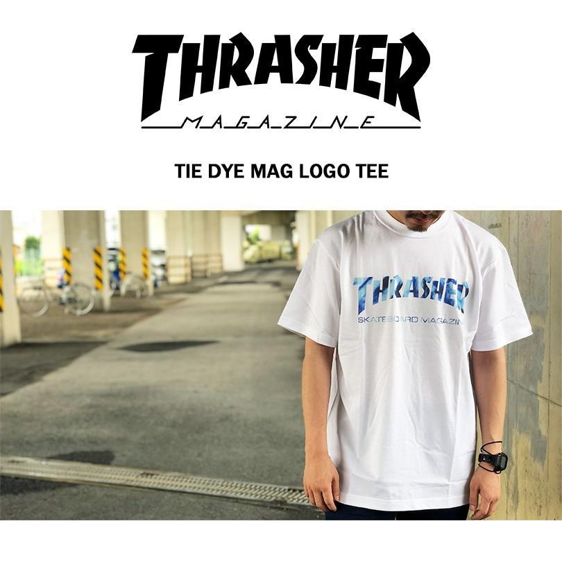 ゆうパケット送料無料 スラッシャー Tシャツ メンズ レディース THRASHER マグ タイダイ MAG TIE DYE LOGO TEE capsule091 11