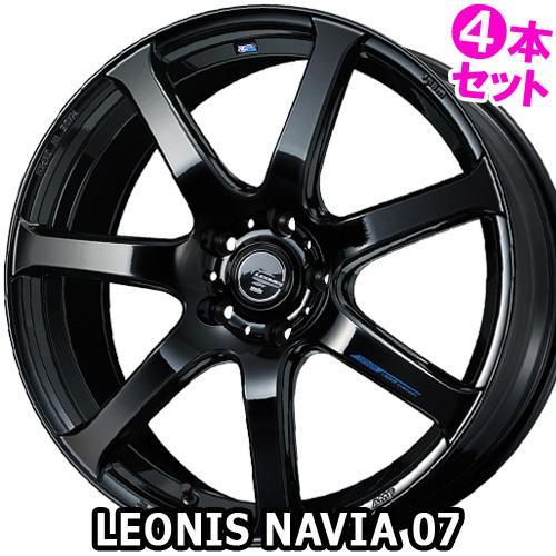 (4本特価) 16×6.0J +45 4/100 レオニス ナヴィア07 (PBK) ウェッズ 16インチ ホイール4本セット LEONIS NAVIA