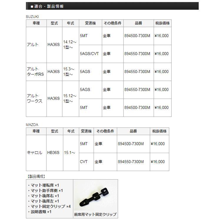 Monster SPORT モンスタースポーツ  894550-7300M フロアマット 5AGS/CVT アルトワークス/アルトターボRS/アルト[HA36S] / キャロル[HB36S]用 car-parts-shop-mm 04