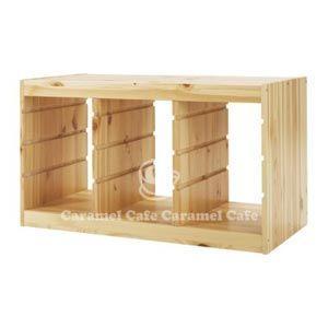 イケア IKEA トロファスト TROFAST フレーム, パイン無垢材 木製 横型 PY