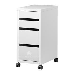 イケア IKEA ミッケ MICKE 引き出しユニット キャスター付き ホワイト ホワイト 70213079
