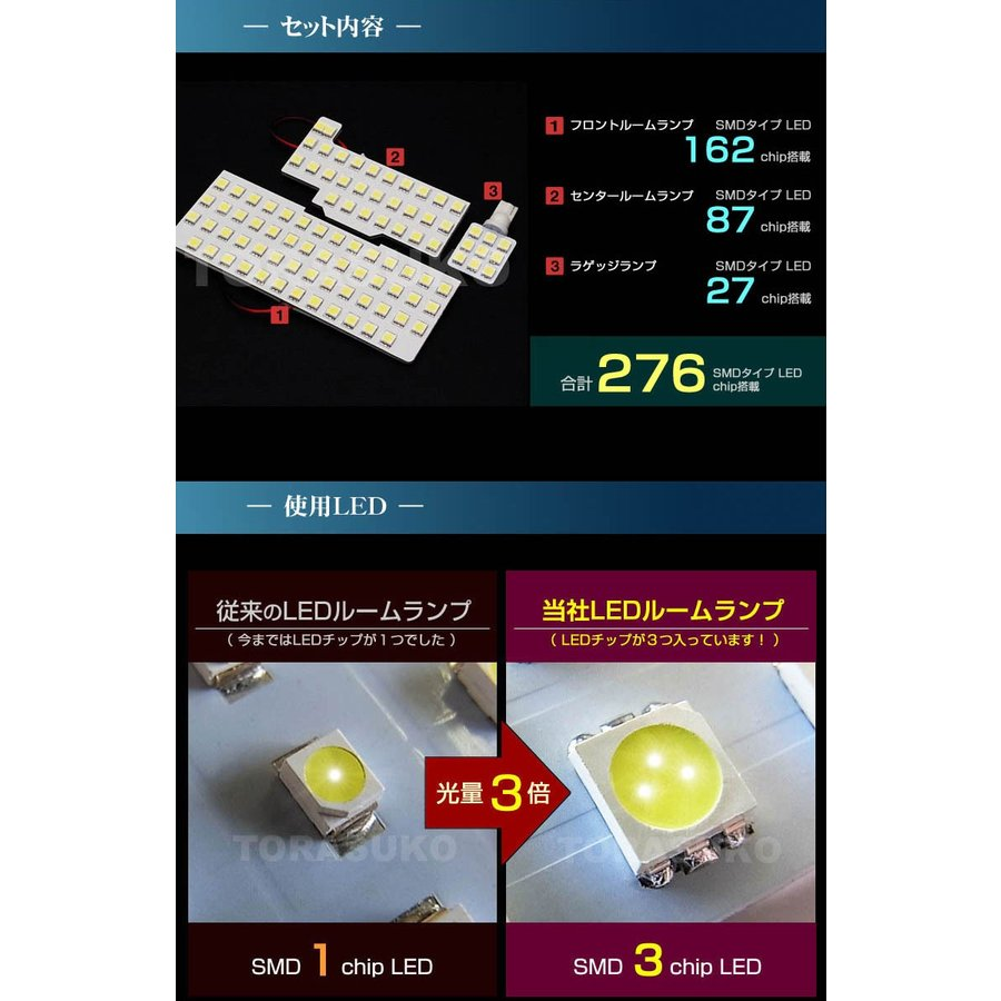 スペーシア スペーシアカスタム スペーシアギア LED ルームランプ ぴったり設計サイズ SPACIA MK53S フレアワゴン 配送料無料  【配送料0円】|carbest|04