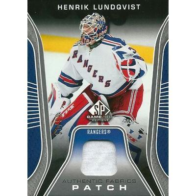 ヘンリク・ルンドクヴィスト NHLカード Henrik Lundqvist 2006/07 SP Game Used Authentic Fabrics Patches 31/50