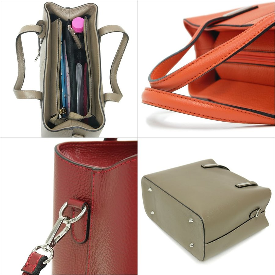 トートバッグ レディース ブランド 斜め掛け 本革レザー 2WAY ショルダー イタリア PULICATI エリシア レディス brand bag|carron|08