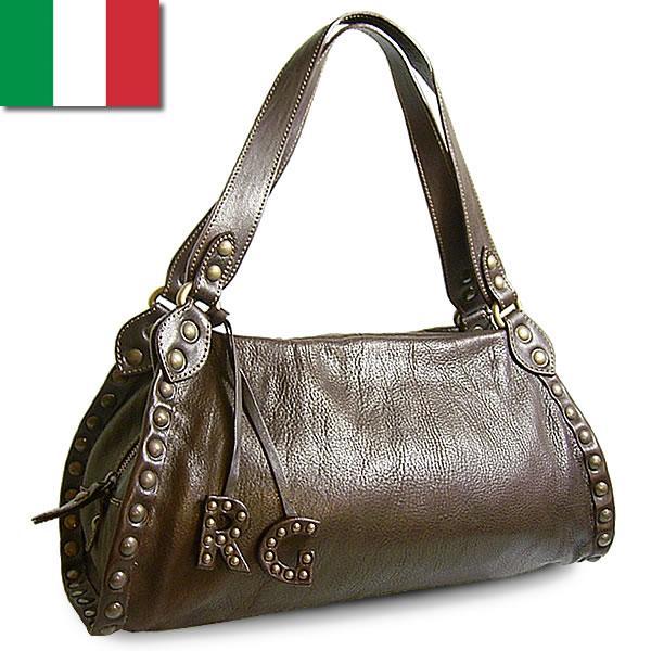 ショルダーバッグ レディース レディス 通勤 スタッズ ヴィンテージ風 本革レザー イタリア ROBERTA GANDOLFI クラシコ・ショルダー bag carron