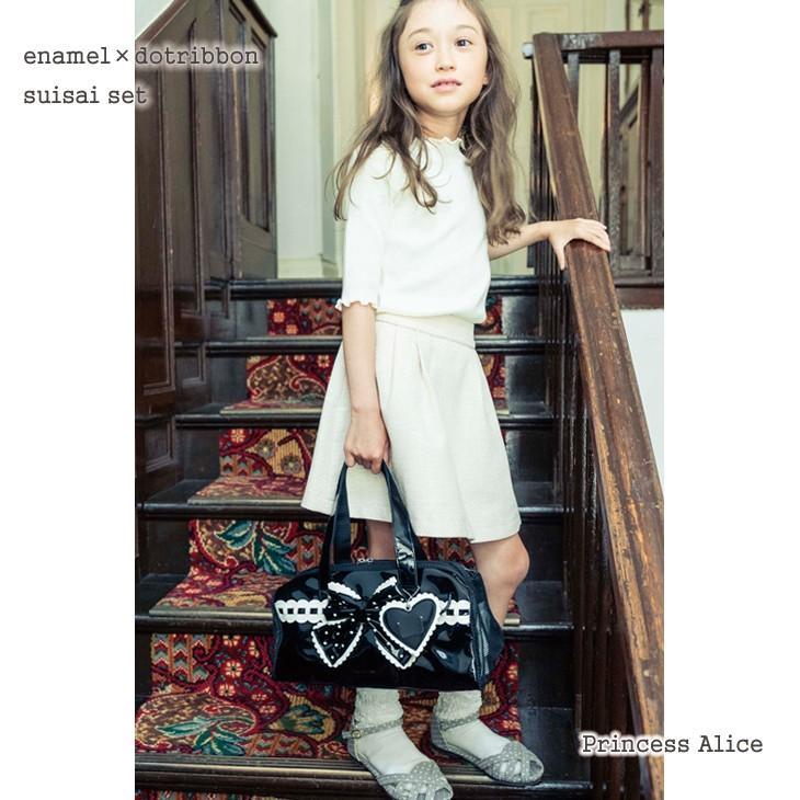 絵の具セット 小学生 女子 プリンセスアリス 黒ドットリボン エナメル 水彩セット|carrot