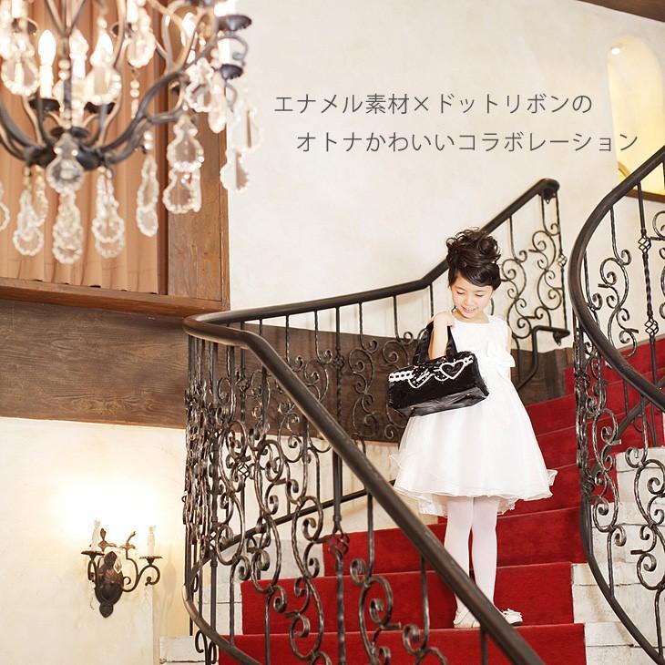 絵の具セット 小学生 女子 プリンセスアリス 黒ドットリボン エナメル 水彩セット|carrot|02