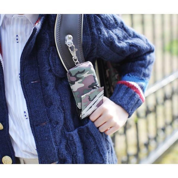 (連)ランドセルに最適!反射材付きで安心! オリジナル・リール付カギケース キーケース 防犯対策 鍵カバー carrot 02