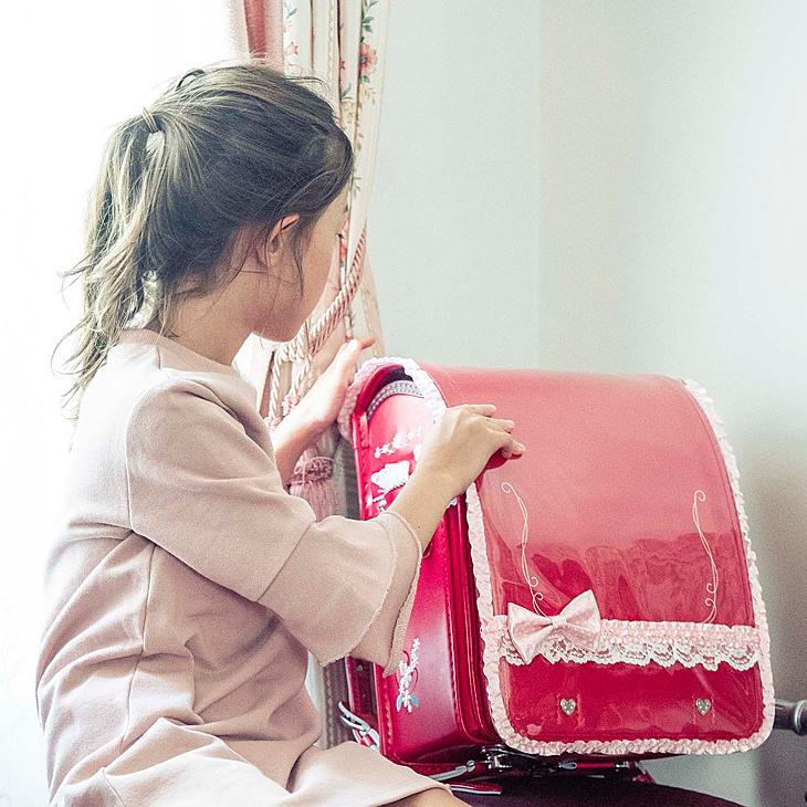 プリンセスアリス ミニ♪サテンリボン ランドセルカバー 透明 女の子 LLサイズ Lサイズ|carrot|03