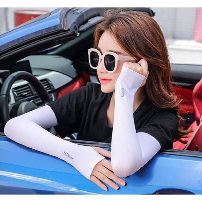 アームカバー 高評価人気商品 即納 uvカット 接触冷感 ギフト ロング 2タイプ 指穴 指なし 腕カバー uv手袋 レディース メンズ 男女兼用 吸水速乾 涼感 carrousel 16