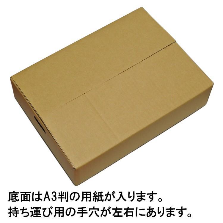 段ボール ダンボール 90サイズ A3対応 20枚セット 梱包用ダンボール 手穴あり 茶色 送料無料 外寸430x310x100mm 厚さ3mm 日本製 003-017 carton-box 03