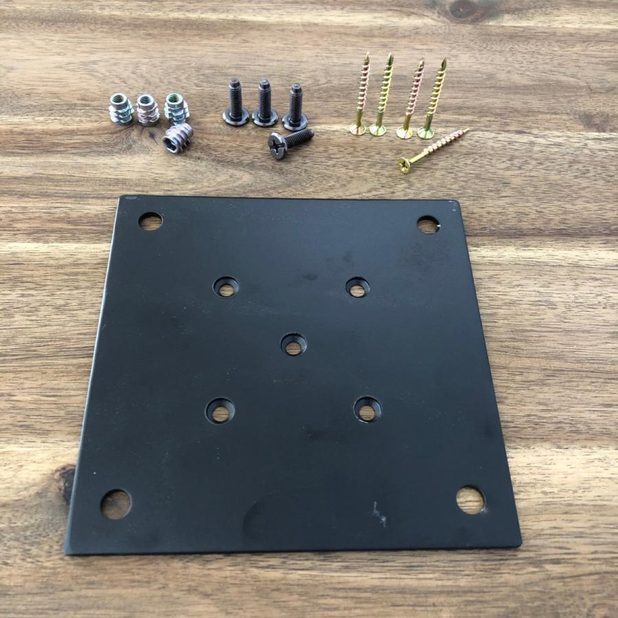 テーブル脚取付用 IKE 金属プレートセット 150 中央取り付けタイプ casa-rica