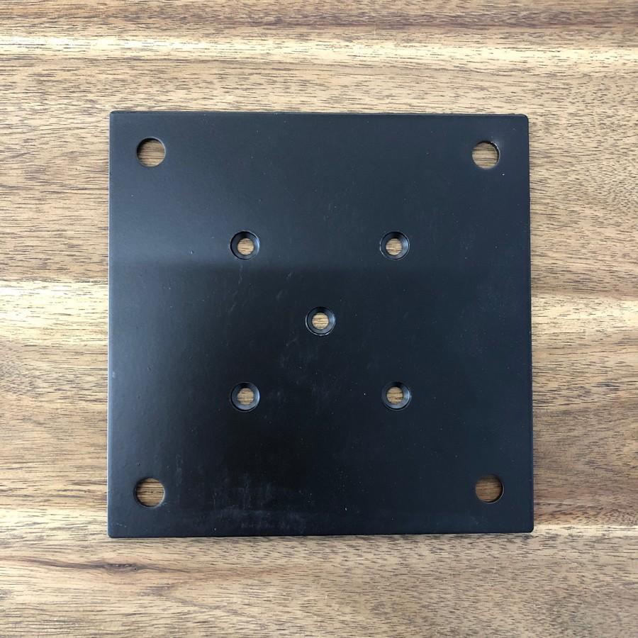 テーブル脚取付用 IKE 金属プレートセット 150 中央取り付けタイプ casa-rica 03