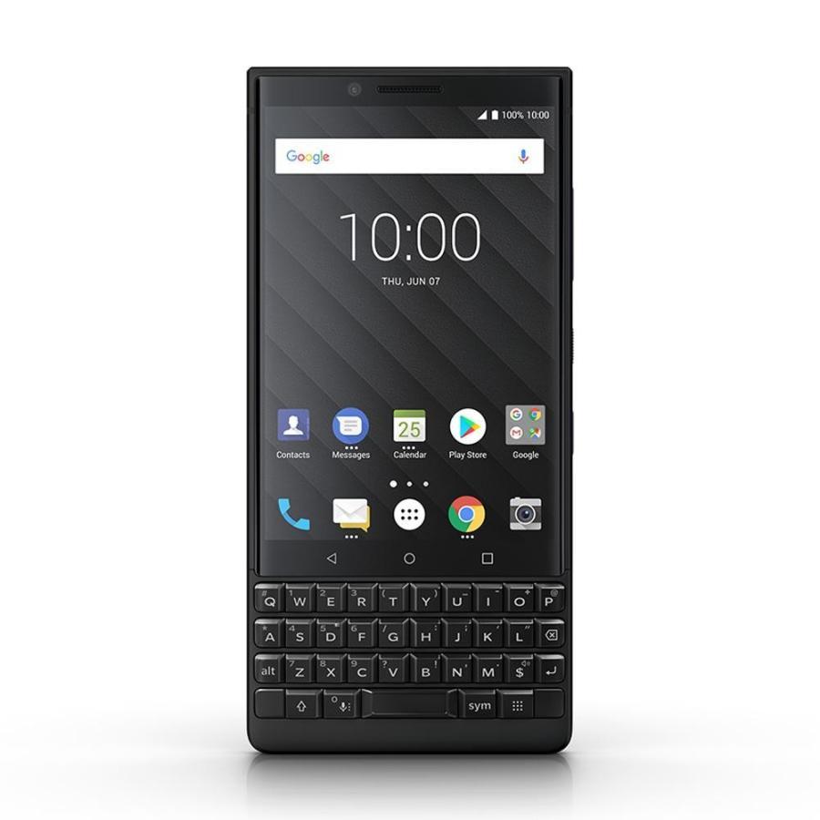BlackBerry ブラックベリー スマホ SIMフリー KEY2 ブラック Android 8.1 4.5型 ストレージ:6GB/128GB nanoSIM×1 ドコモ/au/ソフトバンクSIM対応 caseplay