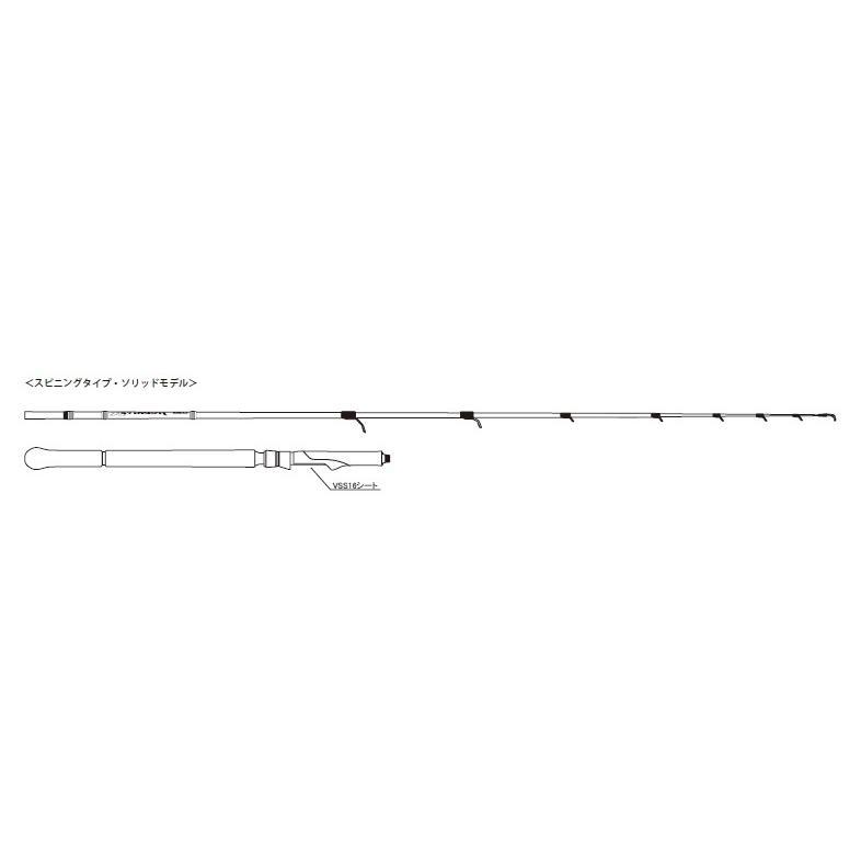 ラグゼ JIGDRIVE(ジグドライブ)R S64L-solid  (スピニングバットジョイント)