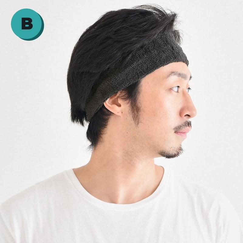 ヘアバンド スポーツ メンズ ヘッドバンド 汗止め ターバン バスケ 洗顔用 日本製 | ヘアーバンド はじめてセット|casualbox|13