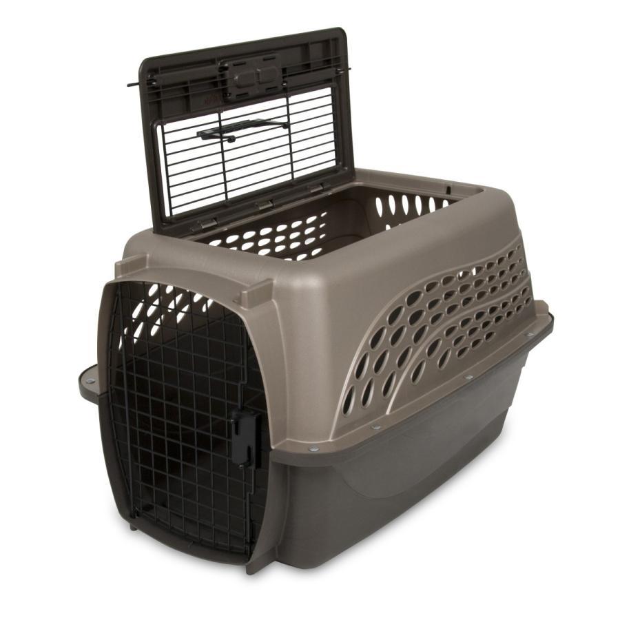 ペットケージ 旅行用 バリケンネル 航空機用 飛行機 クレート キャリー ダブルドア 上開き 猫 小動物 ウサギ SM ( 2ドア バリケンネル SM コーヒー )|catch-shop|04